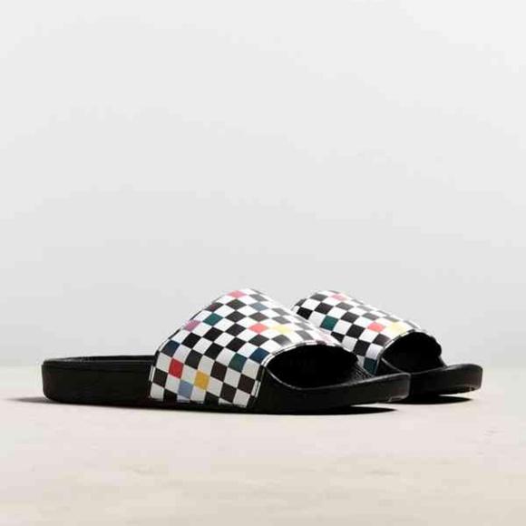 26580f8e76a3 Vans Checkerboard Slide Sandal 10 Multicolor Sport